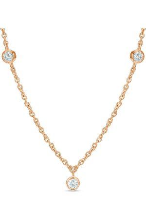 De Beers 18kt rose diamond Clea short necklace