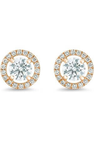 De Beers 18kt rose gold Aura round brilliant diamond studs