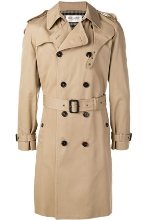 Saint Laurent Homem Gabardinas - Belted trench coat
