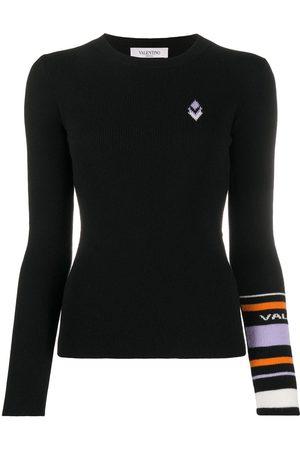 VALENTINO Geometric-detail ribbed jumper