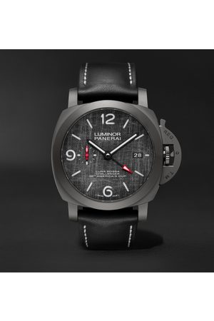 PANERAI Homem Relógios - Luminor Luna Rossa Challenger Automatic GMT and Flyback Chronograph 44mm Titanium and Leather Watch