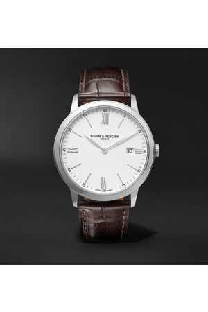 Baume & Mercier Homem Relógios - Classima 40mm Steel and Croc-Effect Leather Watch, Ref. No. M0A10507