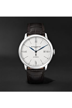 Baume & Mercier Homem Relógios - Classima Automatic 40mm Stainless Steel and Alligator Watch, Ref. No. M0A10214