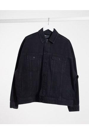 ASOS Oversized denim jacket in washed black