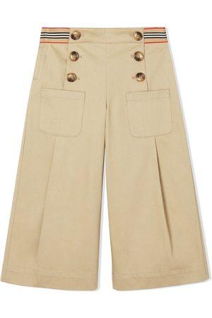 Burberry Icon Stripe trim sailor trousers
