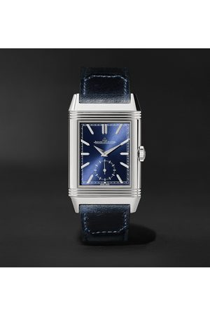 Jaeger-LeCoultre Homem Relógios - Reverso Tribute Duoface Hand-Wound 28.3mm Stainless Steel and Leather Watch, Ref. No. 3988482