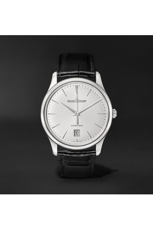Jaeger-LeCoultre Homem Relógios - Master Ultra Thin Date Automatic 39mm Stainless Steel and Alligator Watch
