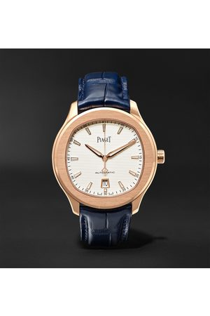 PIAGET Homem Relógios - Polo S Automatic 42mm 18-Karat Rose Gold and Alligator Watch, Ref. No. G0A43010
