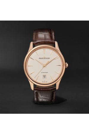 Jaeger-LeCoultre Homem Relógios - Master Ultra Thin Date Automatic 39mm 18-Karat Rose Gold and Alligator Watch, Ref No. 1232510