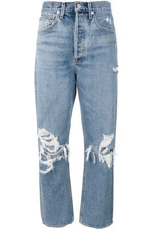 AGOLDE Senhora Retos - Distressed mom jeans