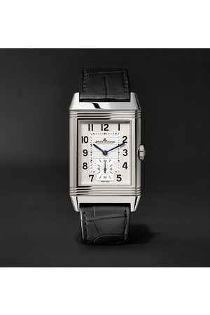 Jaeger-LeCoultre Homem Relógios - Reverso Classic Large Duoface Hand-Wound 28mm Stainless Steel and Leather Watch, Ref. No. Q9008170