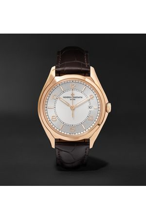 Vacheron Constantin Homem Relógios - Fiftysix Automatic 40mm 18-Karat Pink Gold and Alligator Watch, Ref. No. 4600E/000R-B441 X46R2019