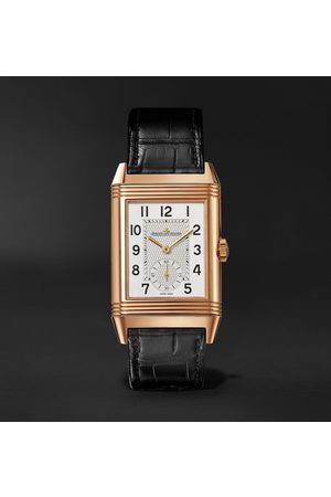 Jaeger-LeCoultre Homem Relógios - Reverso Classic Large Duoface Small Seconds Automatic 28.3mm 18-Karat Rose Gold and Alligator Watch