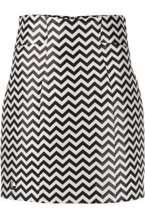 Philipp Plein Chevron mini skirt