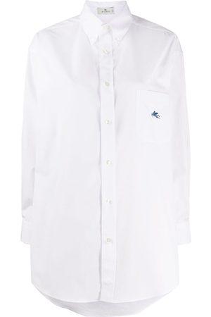 Etro Long-line cotton shirt