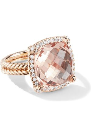 David Yurman 18kt rose gold Châtelaine diamond and morganite ring