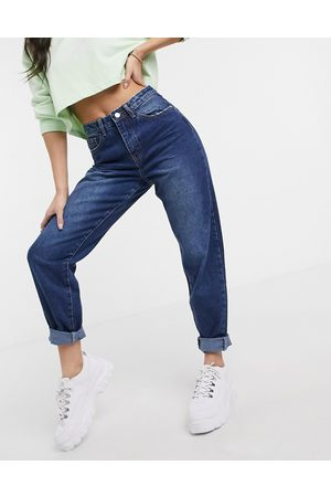 Missguided Mom jeans in blue-Navy