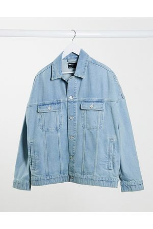 ASOS Oversized denim jacket in light wash blue