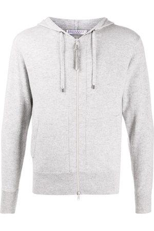 Brunello Cucinelli Zipped drawstring hoodie