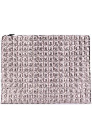 NO KA' OI Pebbled-effect zipped pouch