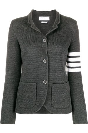 Thom Browne Links Stitch Classic SB Sport Coat 2/ 4 Bar In Fine Merino Wool