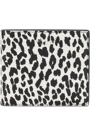 Saint Laurent Leopard print leather wallet