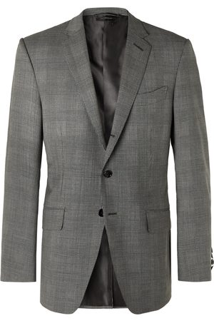 Tom Ford O'Connor Prince of Wales Checked Wool-Blend Suit Jacket