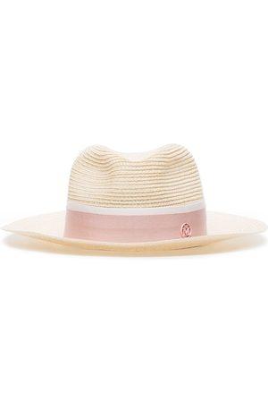 Maison Michel Pink Henrietta fedora hat