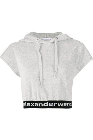 Alexander Wang Senhora Tops de Cavas - Cropped short-sleeve hoodie