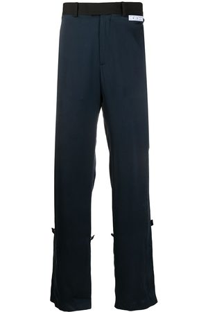 OFF-WHITE FORMAL SILK PANT BLUE NO COLOR