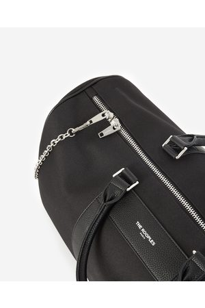 The Kooples Black weekend bag with removable chain