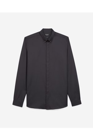 The Kooples Black cotton shirt with buttoned collar