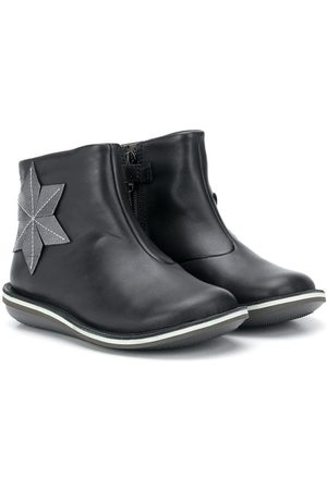 Camper Kids Star appliqué leather boots