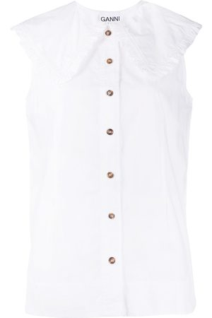 Ganni Senhora Blusas - Organic cotton blouse