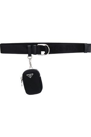 Prada Double ring pouch detail belt