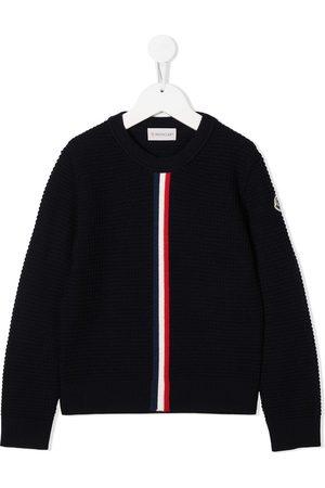 Moncler Menino Camisolas - Crochet knit wool jumper