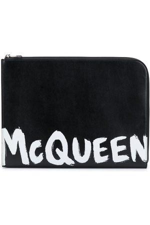 Alexander McQueen Homem Pastas Negócios & Laptop - Logo-print document holder