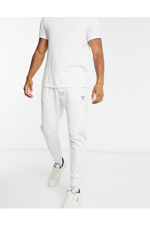 Reebok Classics essentials joggers with vector logo in light grey-White