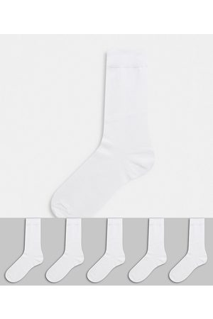 ASOS 5 pack ankle sock in white save