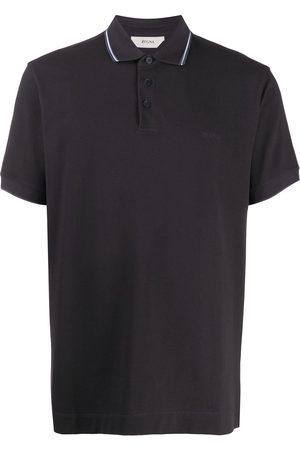 Z Zegna Stripe detail polo shirt