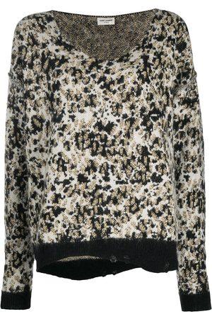 Saint Laurent Round neck wool jumper