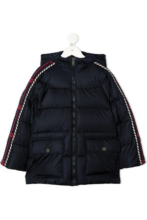 Gucci Interlocking G-stripe padded jacket