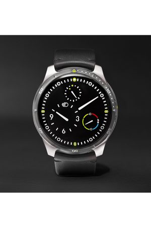 Ressence Type 5 Mechanical 46mm Titanium and Leather Watch, Ref. No. TYPE 5B