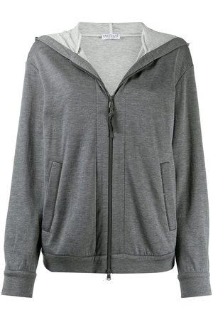 Brunello Cucinelli Zipped long-sleeve hoodie