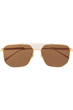 Bottega Veneta Eyewear Óculos de Sol - BV1036S hexagonal-frame sunglasses