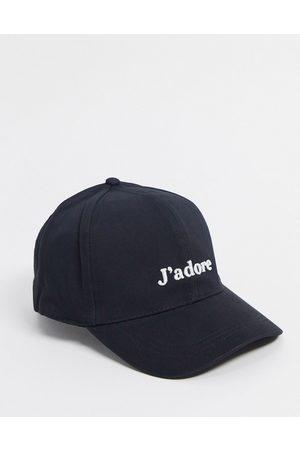 ASOS Baseball cap with J'adore logo in black
