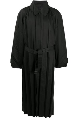 Balenciaga Pleated belted trench coat