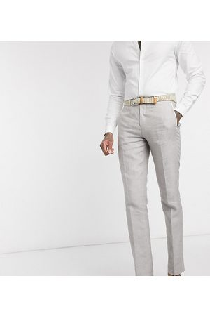 Twisted Tailor TALL slim linen suit trousers in stone