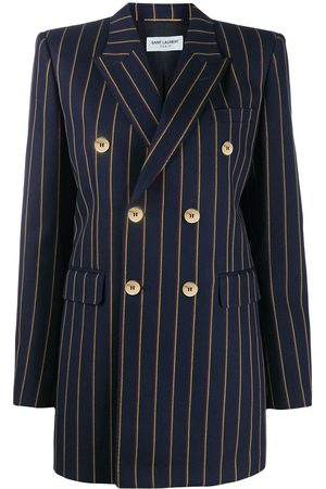 Saint Laurent Striped double-breasted blazer
