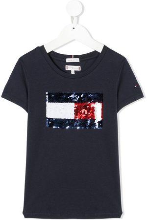 Tommy Hilfiger Sequin embellished crew neck T-Shirt